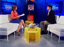 Henkel García con Elianta Quintero en el Noticiero Venevisión